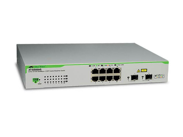 Коммутаторы Allied Telesis GS950 серии - AT-GS950/8POE